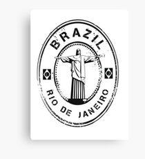 Brazil Stamp Canvas Print