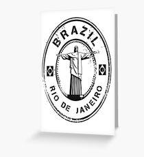Brazil Stamp Greeting Card