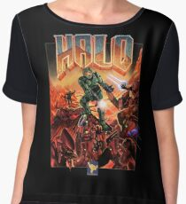 Halo-Doom Chiffon Top