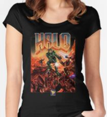 Halo-Doom Women's Fitted Scoop T-Shirt