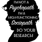 BBC Sherlock - Sociopath Quote by OutlineArt