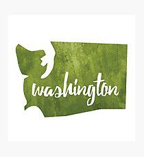 Washington [green] Photographic Print