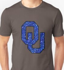 OU Royal Blue Glitter Unisex T-Shirt