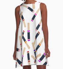 Lip Collage A-Line Dress