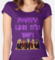 Party Like It's 1997 (Steps Style) Women's Fitted Scoop T-Shirt