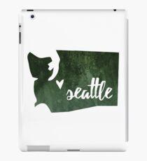 Seattle, Washington [green] iPad Case/Skin