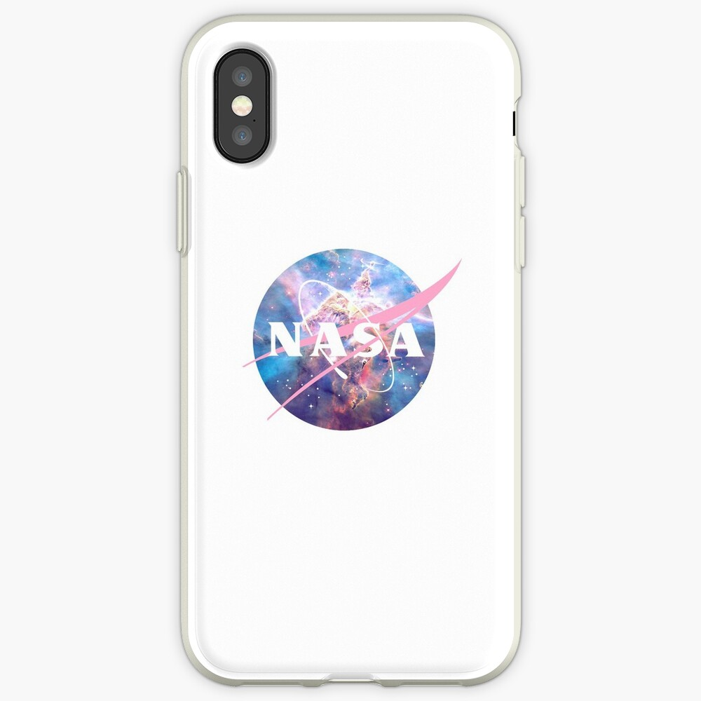 Pastellnebel Nasa Logo iPhone-Hülle & Cover