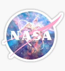 Pastel Nebula Nasa Logo Sticker
