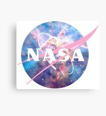 Pastel Nebula Nasa Logo Canvas Print