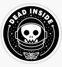 Pegatina Muerto en el interior