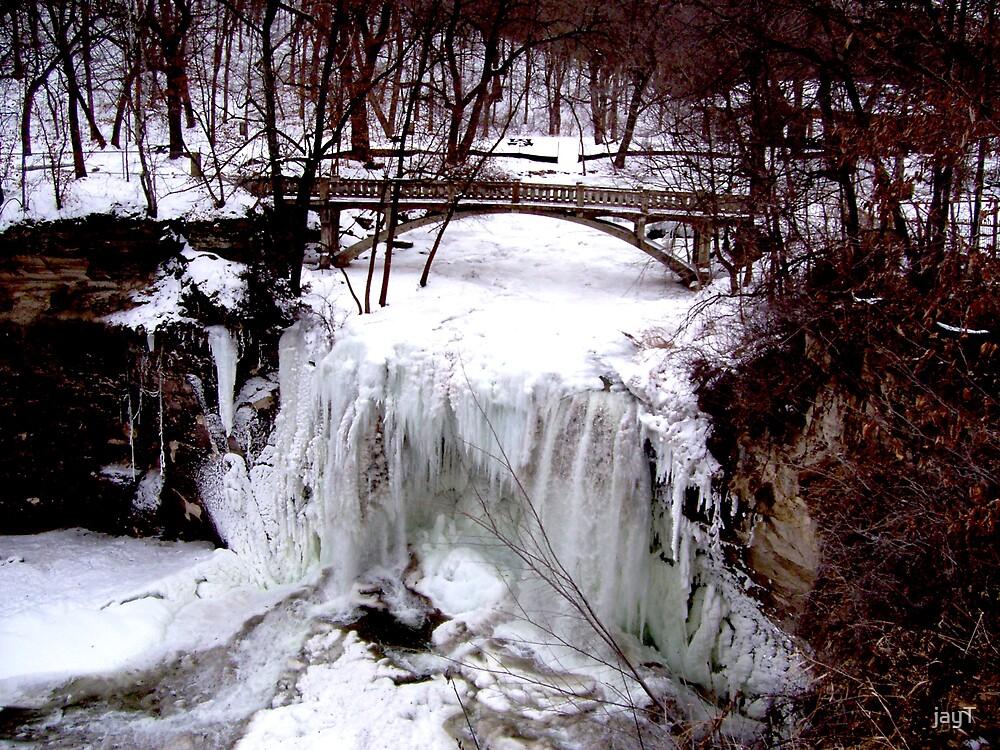 the frozen waterfall by jayT