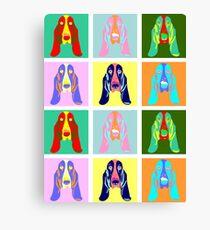 Basset Hound Pop Art Canvas Print