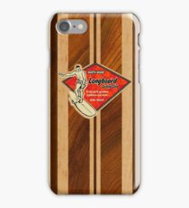Waimea Hawaiian Faux Koa Wood Surfboard   iPhone Case/Skin