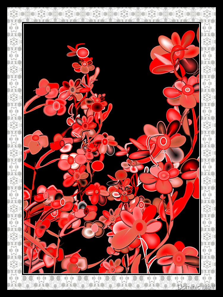 Floral in red by Dominic Melfi