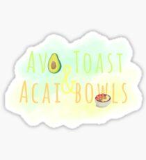 Avo toast & Acai Bowl Sticker
