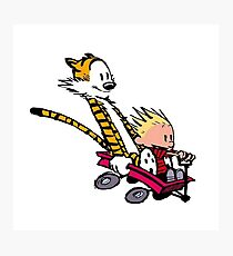 calvin and hobbes speed Photographic Print