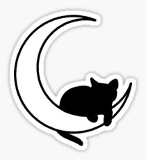 Moon + Cat Sticker