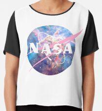 Pastel Nebula Nasa Logo Chiffon Top