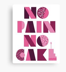 Sofia Vergara - No Pain No Cake Tee Canvas Print