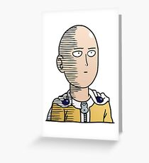 One Punch Man / OPM - Saitama Ok Greeting Card