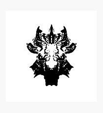 Blood Dragon Skull Photographic Print
