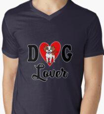 Dog Lover Mens V-Neck T-Shirt
