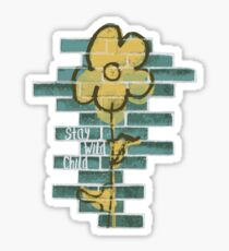 STAY WILD CHILD   peach and teal Sticker