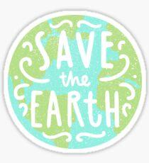 Rette die Erde Sticker