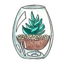 tiny terrarium by HiddenStash