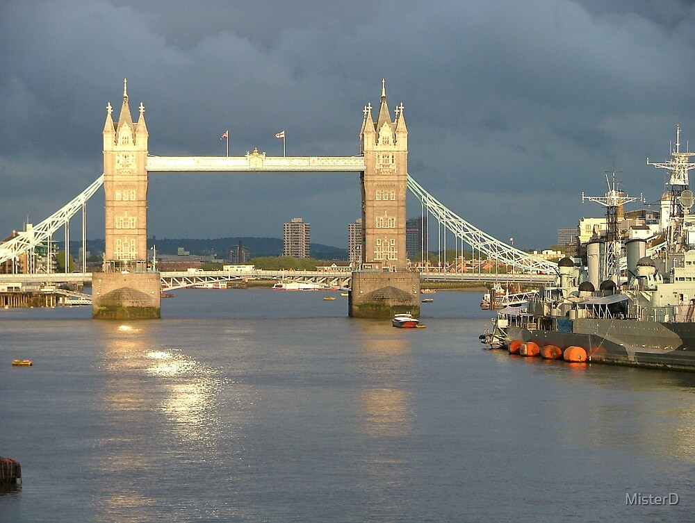 Tower Bridge (when Essex was copping some really bad weather) by MisterD