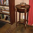 19th Century French Louis XV Style Walnut and Ormolu Side Table by Hedgie's Nature & Gardening Journal