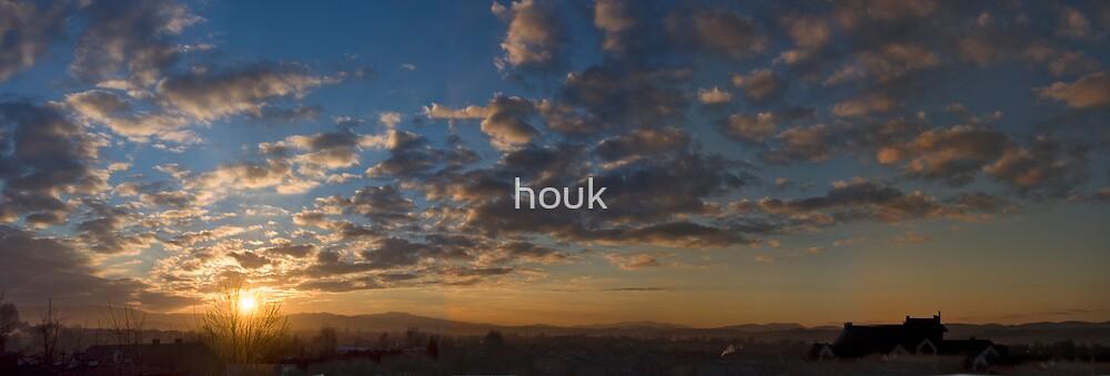 Sunset - panorama by houk