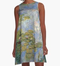 Claude Monet - Water Lilies A-Line Dress