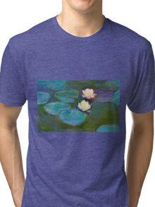 Claude Monet - Water Lilies Tri-blend T-Shirt