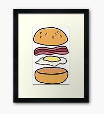 Bacon and Egg roll Framed Print