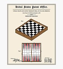 Game Board Patent Photographic Print