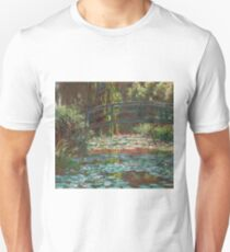 Claude Monet - The Japanese Bridge (The Bridge Over The Water-Lily Pond), 1900 T-Shirt