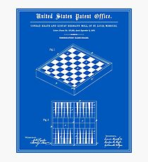 Game Board Patent - Blueprint Photographic Print