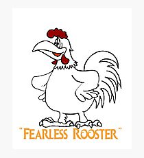 fearless rooster Photographic Print