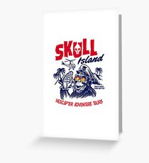 Skull Island Helicopter Adventure Tours Greeting Card