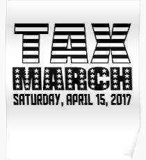 Anti Trump Tax March Poster
