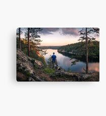 The landscape of soul (summer night) Canvas Print