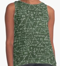 School seamless doodle pattern with different mathematical formulas, sсhemes and values. Contrast Tank