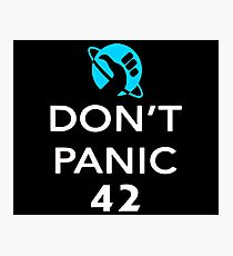 Don't Panic! Hitchhiker's Guide to the Galaxy Photographic Print