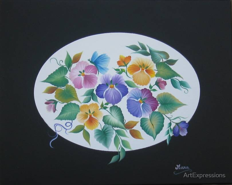 Pansy Bouquet by ArtExpressions