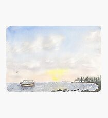 Boat on the water Photographic Print
