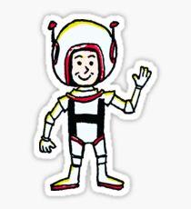 H Astronaut Sticker