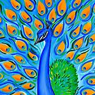 Peacock with Aqua by cathyjacobs