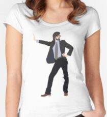Dance Like Jarvis Cocker Women's Fitted Scoop T-Shirt