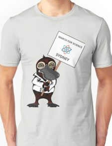 March for Science Sydney – Platypus, full color Unisex T-Shirt